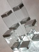 Stackable Square Glass Jars 7in - Airtight  - Clearance
