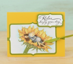 Stampendous Sunflower Smile Card