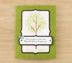 Stampendous Tree Parts Card