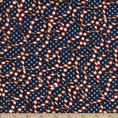 Star Spangled Bandana Cotton Fabric - Blue 02892-76