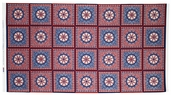 Star Spangled Bandana Cotton Fabric Panel - Red, White and Blue 02890-10