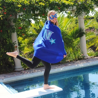 Star Super Hero Cape with Mask