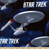 Star Trek Cotton Fabric - Blue #63100102-1