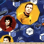 Star Trek Cotton Fabric - Blue #63100105-1