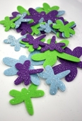 Stick It Felt Glimmer Dragonflies - Green/Purple/Blue