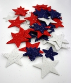Stick It Felt Glimmer Stars - Red/White/Blue