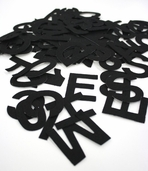 Stick It Felt Letters and Numbers - Black