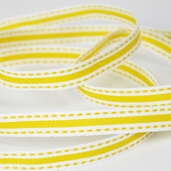 Stitched Striped Ribbon 3/8in. - 27.5yds - Yellow