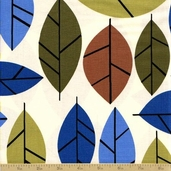 Stockholm Cotton Fabric - Vintage - Leaves