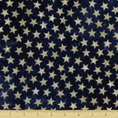 Stonehenge Stars and Stripes Cotton Fabric - Dark Blue 39101-49