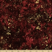 Stonehenge Celebration Cotton Fabric - Metallic Pomegranate 3956M-82