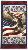 Stonehenge Stars and Stripes Cotton Fabric Panel