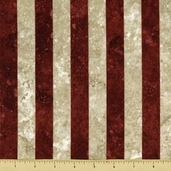 Stonehenge Stars and Stripes Cotton Fabric - Red 39100-25