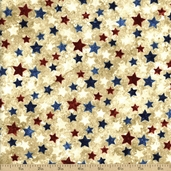 Stonehenge Stars And Stripes Stars Cotton Fabric - Red White And Blue