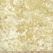 Stonehenge White Christmas Metallic Cotton Fabric - Gold