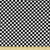 Story Time Rhyme Cotton Fabric - Checker Board - Black