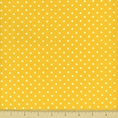 Story Time Rhyme Cotton Fabric - Polka Dot - Yellow