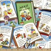 Storybook Classics Cotton Fabric - Multi-color 36075