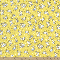Storybook Playtime Duck Cotton Fabric - Yellow