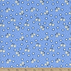 Storybook Playtime Sprigs Cotton Fabric - Blue
