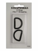 Strapworks D-Rings 1 inch Black 2 pack