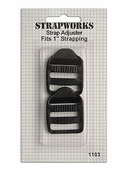 Strapworks Strap Adjusters 1 inch Black 2 pack.