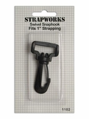 Strapworks Swivel Snap Hook 1 inch Black