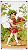 Strawberry Cotton Fabric Panel