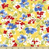 Strawberry Picnic Cotton Fabric - Floral