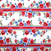 Strawberry Picnic Cotton Fabric - Red