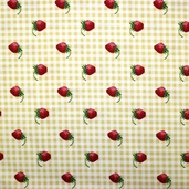 Strawberry Picnic Cotton Fabric - Yellow