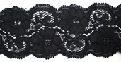 Stretch Galon Lace - Black - Clearance