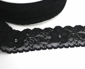 Stretch Lace Trim 1-3/4in. - Black - 27.5yds