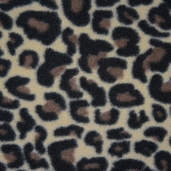 Stretch Micro Fleece Fabric - Leopard Print