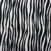 Stretch Micro Fleece Fabric - Zebra Print