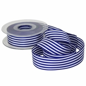 Stripe Ribbon 1in. - 27.5yds - Blue