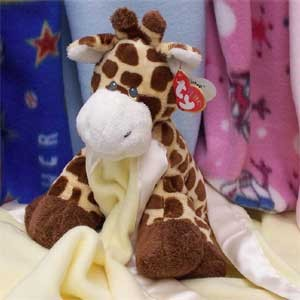 Stuffed Animal with Blankie