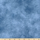 Suede Mid Tones Cotton Fabric - Blue 00300-SUEM - Clearance