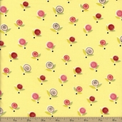 Sugar And Spice Floral Cotton Fabric - Yellow