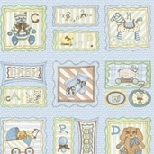 Sugar Biscuit - Framed Sampler Blue - Panel