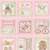 Sugar Biscuit - Framed Sampler Pink - Panel