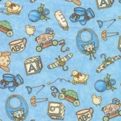 Sugar Rolls Flannel Fabric - Blue