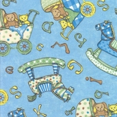 Sugar Rolls Flannel Fabrics - Blue