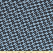Sultana Burlap Houndstooth Fabric - 57/58 Inch - Blue