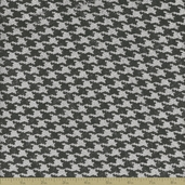 Sultana Burlap Houndstooth Fabric - 57/58 Inch - Grey