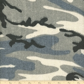 Sultana Camouflage Burlap Fabric - 57/58 Inch - Winter White/Gray