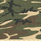 Sultana Camouflage Burlap Fabric - 57/58 Inch - Woodlands Green