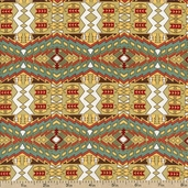 Summer Camp Design Cotton Fabric - Gold PWMC029-GOLD