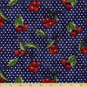 Summer Preserves Cotton Fabric - Blue Q.1053-59013-437S