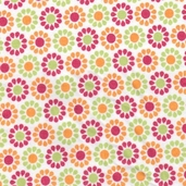 Summer Song Flannel Fabric - Orange